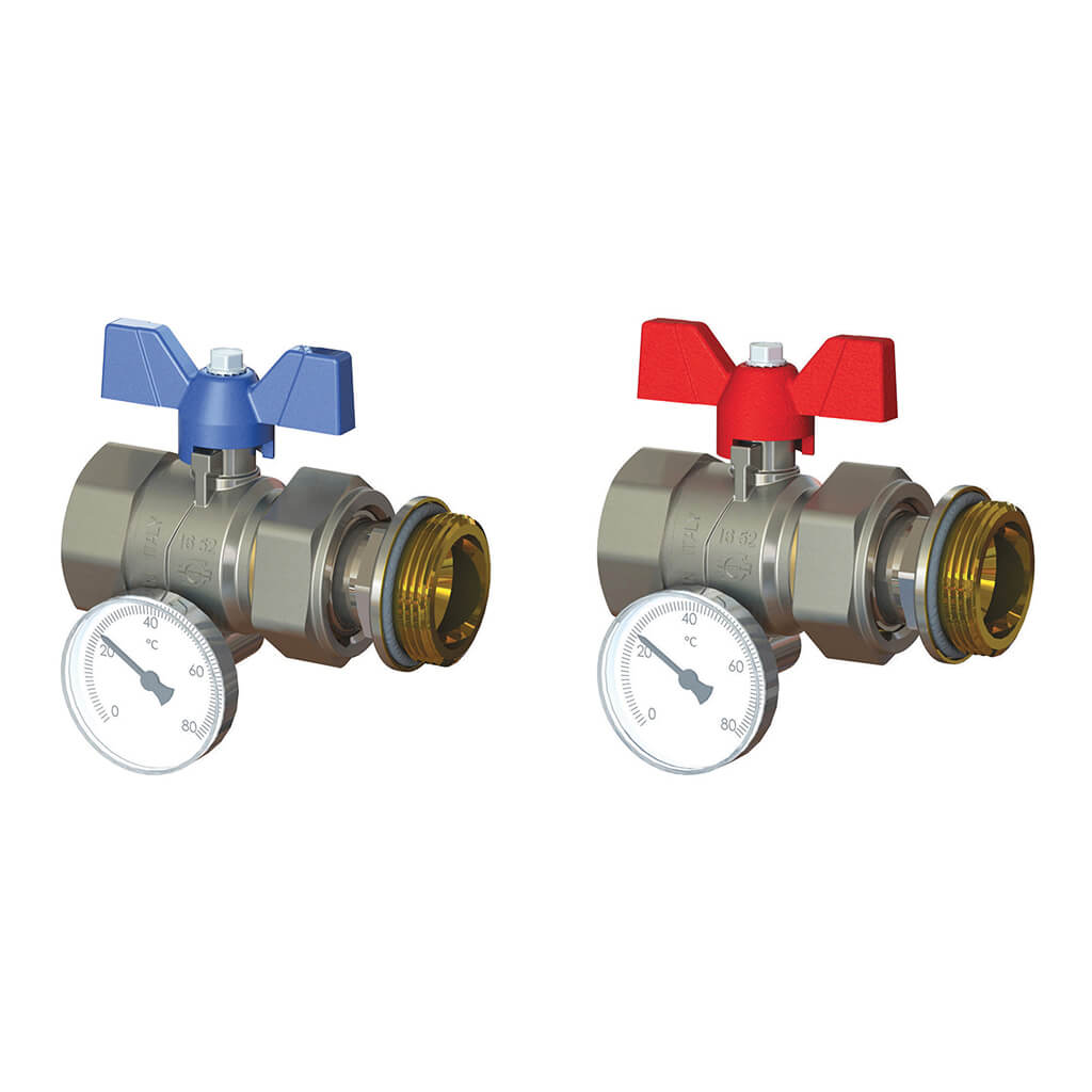 Ball Isolation Valve with Temperature Gauge