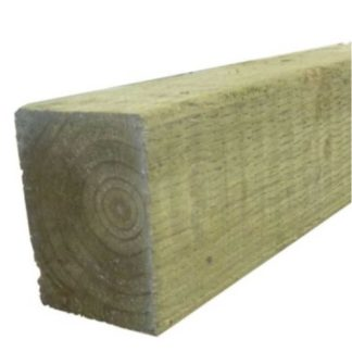 8ft / 2.4mtr 75x75mm Treated Fence Post