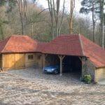 Oak Frame Garage 14