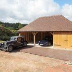 Three Bay Oak Framed Garage