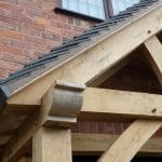 Oak Frame Porch Finishing