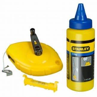 Stanley Power Winder Chalk Line 30m Chalk & Level STA047465