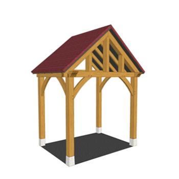 Full height oak framed porch