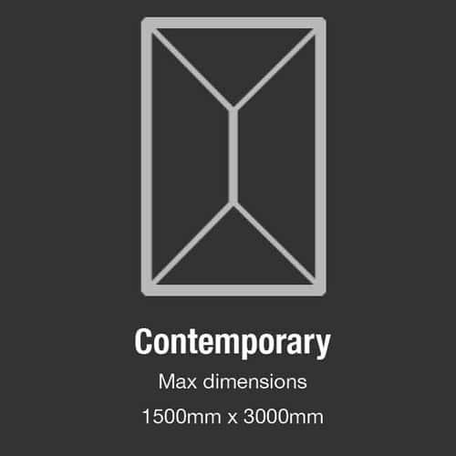 Contemporary Design - Maximum dimensions 1500mm x 3000mm