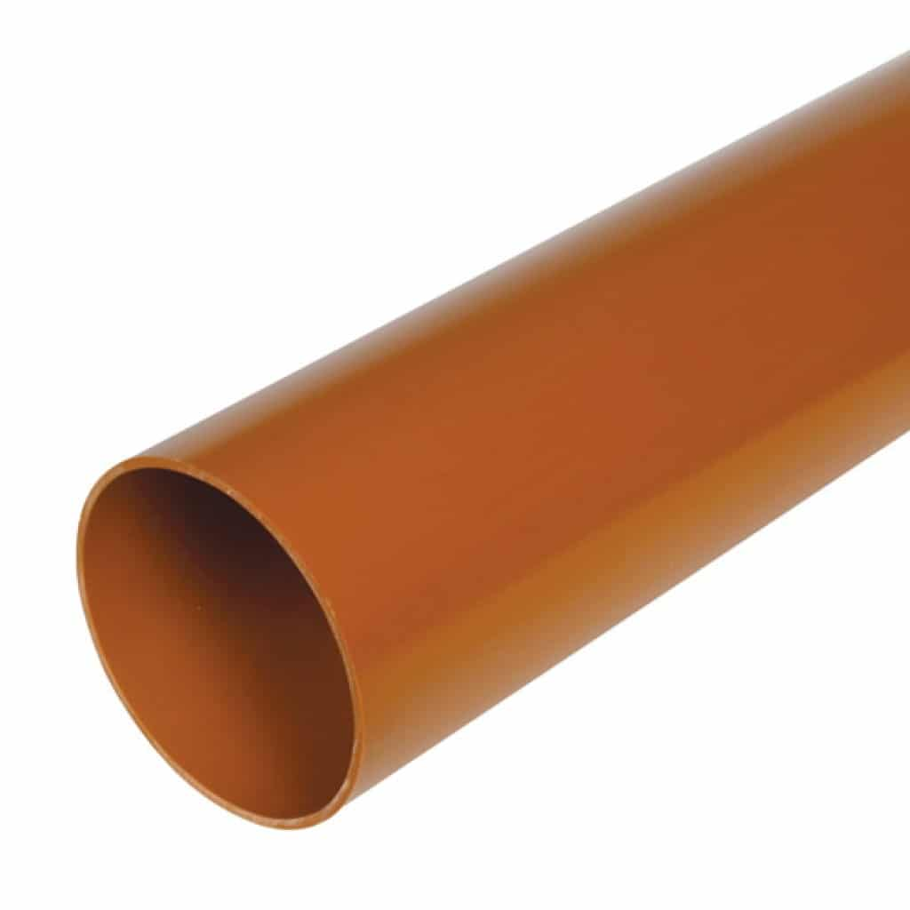 Hunter 110mm Underground Drain Pipe Plain Ended