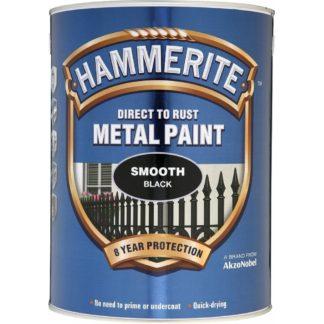 Hammerite Metal Paint Smooth Black