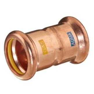 M-PRESS Aquagas Copper Straight Coupling 15mm